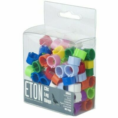 £8.99 • Buy 100 Mixed 8mm Eton Clic Leg Rings For Poultry Chicken Quail Pigeon Growing Birds