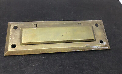 $30 • Buy Vintage Post Office Brass Letters Door Delivery Slot Sargent & Co Free Ship