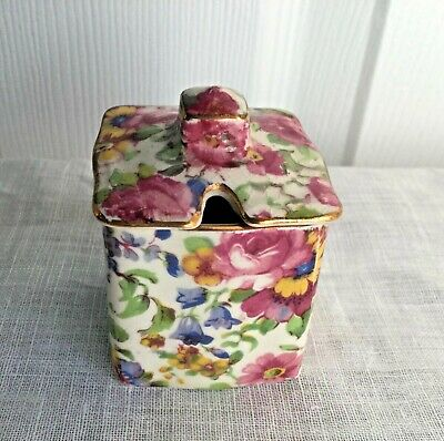 $ CDN28 • Buy Royal Winton Grimwades Summertime Chintz Condiment Mustard Pot England