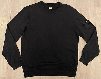Cp Company   XL Lens Goggle Crew Jumper Sweater Sweatshirt Pullover Navy Cotton • 79.99£