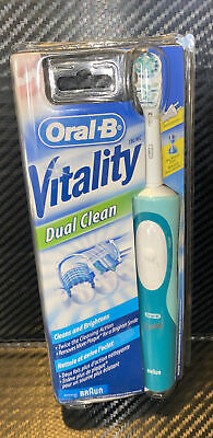 AU51.48 • Buy New Oral-B Vitality DUAL CLEAN Electric Rechargeable Toothbrush Powered By BRAUN