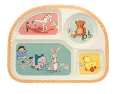 £8.95 • Buy Belle And Boo Melamine Children's Section Dinner Tray - Sold For Hospice