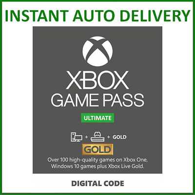 $ CDN6.81 • Buy Xbox Live Gold & Game Pass Ultimate Membership 1, 2, 3, 6, 12 Month & 7, 14 Days