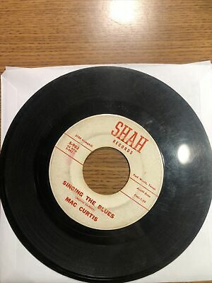 MAC CURTIS 45 Singing Blues / Ballad Of Black Mountain SHAH Texas Country Bop • 14.55£