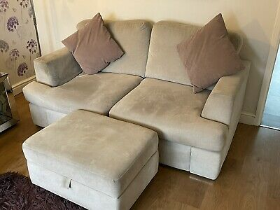 3 Piece Sofa Bed Suite & Foot Stool • 94£