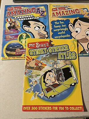 £7 • Buy Mr Bean's AMAZING A To Z Collection 2  Issues  Sticker Book Stinky Atlas