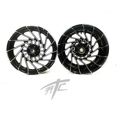 $2599.99 • Buy Gsxr 240 Fat Tire Black Contrast Cut Mayhem Wheels 01-08 Suzuki Gsxr 1000