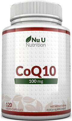 $ CDN48.34 • Buy CoQ10 100mg | 120 Coenzyme Q10 Capsules | Made In The UK By Nu U Nutrition