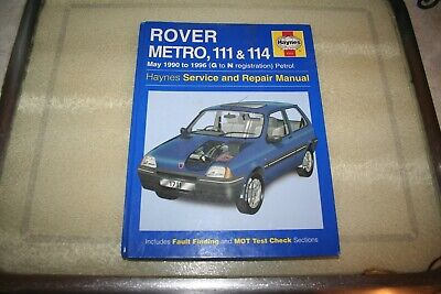 Rover Metro, 111 & 1 1990-1996 (G To N Reg) Haynes Service And Repair Manual  • 5.99£