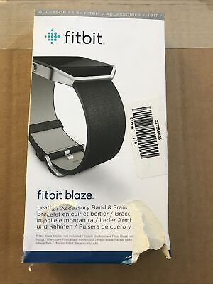 $ CDN12.33 • Buy Fitbit Blaze Accessory Replacement Leather Wrist Band & Frame SM Black