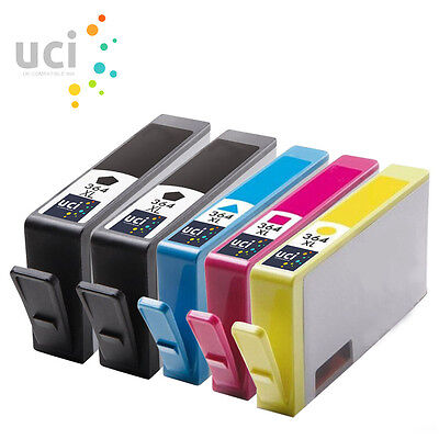 5 Chipped Ink UCI Brand Fits For Hp 364XL Photosmart 5510 3520 5520 5524 7510 • 7.14£