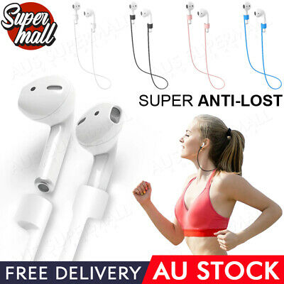 AU4.25 • Buy Anti Lost Strap String Rope Soft Silicone Holder Cable Cord Airpods Pro Earbuds