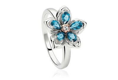 £79 • Buy NEW Official Welsh Clogau Silver & Rose Gold Forget Me Not Ring £70 OFF SIZE N