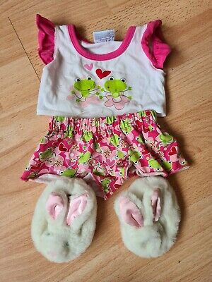 £5.25 • Buy Build A Bear Frog Pj Set With Fluffy Rabbit Slippers