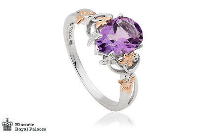£520 • Buy NEW Clogau 18ct White & Rose Gold Great Vine Amethyst Ring £430 Off! Size Q