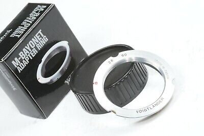 AU103.43 • Buy Genuine Voigtlander M-bayonet Adapter 28mm/90mm L39 To Leica M2 M3 M6 M9 Mount