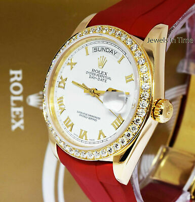 $ CDN13778.94 • Buy Rolex Day-Date 18k Yellow Gold & Diamond Bezel Roman Dial Mens Watch 18038