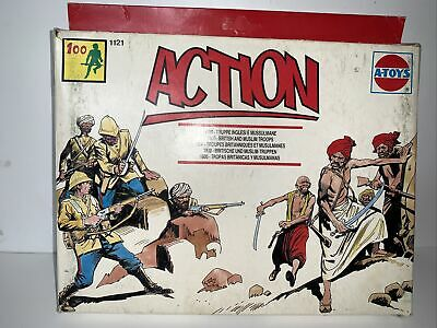 Es I A-toys 1800s British And Muslim Troops 1/72 Double Box Set! • 10£