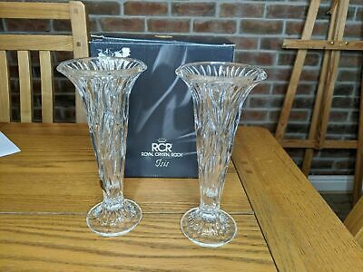 Vintage Pair Of Royal Crystal Rock Candle Stick Holders  • 11.99£