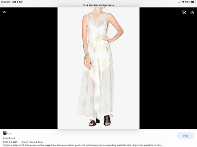 AU99 • Buy Sass & Bide Lost Love Dress BNWT RRP $590