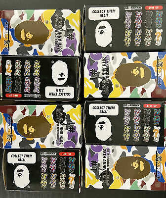 $399 • Buy MEDICOM BAPE SECRET BEARBRICK CAMO 28TH ANNIVERSARY SET 8PCs BE@RBRICK 100% 400%