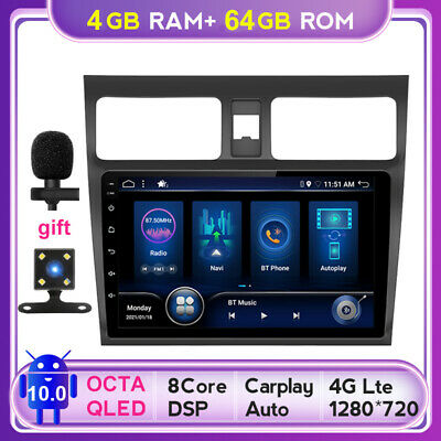 AU315.23 • Buy DSP+CarPlay Android 10.0 Car Stereo Head Unit For Suzuki Swift GPS NAVI 4GB+64GB
