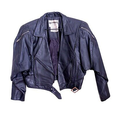 AU70 • Buy Leather Jacket, Woman's Genuine Leather (Black) By Trenk Size 8 Australian Made