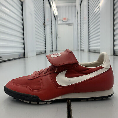 AU129 • Buy Vintage 80s Nike Baseball Cleats Leather Red Retro 861202PY3 Shoes Mens US Sz 12