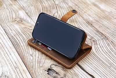 AU54 • Buy Leather IPhone Phone Case With Card Holder IPhone 11 12 Pro Max Wallet Case