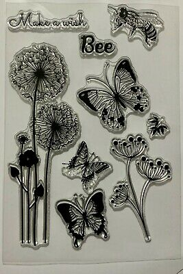 £3.99 • Buy Dandelion Clock & Bee Clear Stamps - Flowers, Butterflies And Sentiments