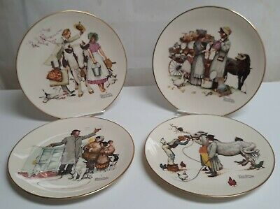 $ CDN10.98 • Buy Norman Rockwell Plates 1984 Set 4 Limited Edition The Four Seasons Gorham China