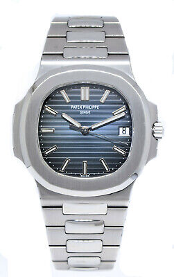 £77118.88 • Buy Patek Philippe Nautilus Stainless Steel Blue Dial Watch B/P '08 5711/1A-010