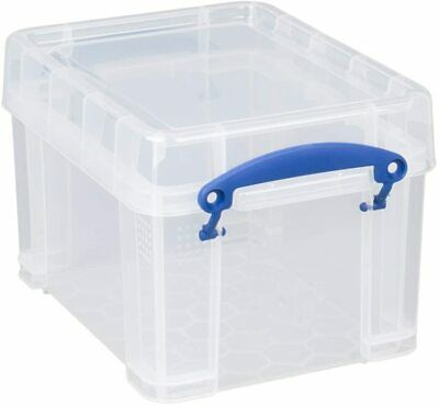 £8.50 • Buy Really Useful Strong,Clear Plastic 3 Litre CD / DVD  STORAGE BOX