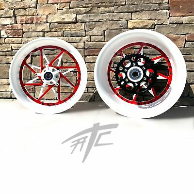 $2899.99 • Buy Gsxr Stock Size White & Red Switchback Wheels 01-08 Suzuki Gsxr 1000