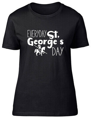 £9.99 • Buy Everyday St George's Day Day Fitted Womens Ladies T Shirt