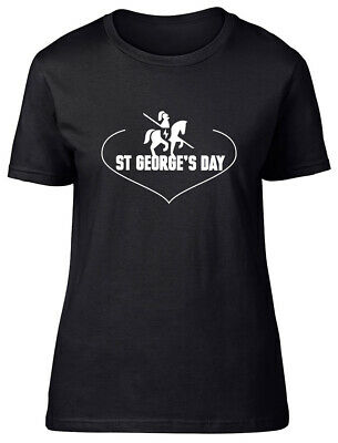 £9.99 • Buy Love St George's Day Fitted Womens Ladies T Shirt