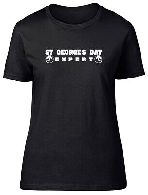 £9.99 • Buy Expert St George's Day Fitted Womens Ladies T Shirt