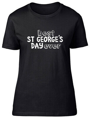 £9.99 • Buy Best St George's Day Ever Fitted Womens Ladies T Shirt