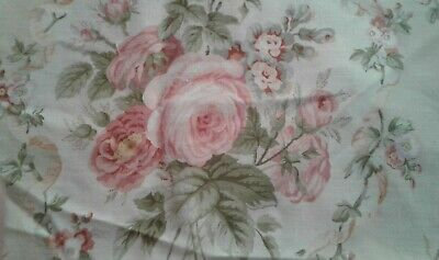 Vintage Rose Cabbages LIGHTWEIGHT Polycotton Fabric 90 X 65 Cm Appr • 9.99£