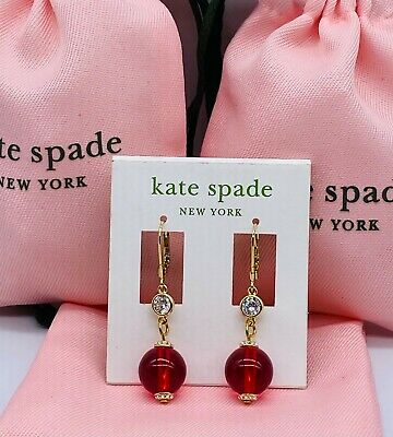 $ CDN11.89 • Buy Kate Spade Golden Red Drop Earrings