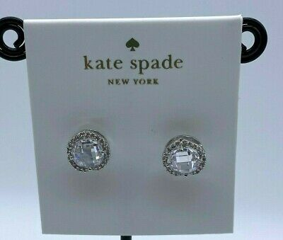 $ CDN8.76 • Buy Kate Spade Bright Silver Tone  Studs Earrings