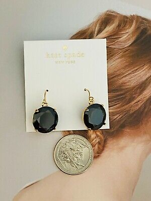 $ CDN7.51 • Buy KATE SPADE Shine On Drop Black Earrings