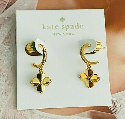 $ CDN8.15 • Buy Kate Spade Golden Clover Earrings