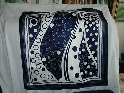 £3.99 • Buy Ladies Scarf Navy And White Spots, Large Size, Tie Rack