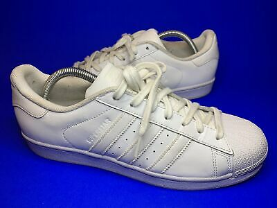 AU28.44 • Buy ADIDAS SUPERSTAR TRAINERS All White SIZE UK 9 Vgc