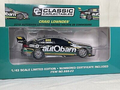 AU35 • Buy CLASSIC 1/43 2018 HOLDEN ZB COMMODORE LOWNDES  888 AUTOBARN SUPERCAR  #888-23-v8