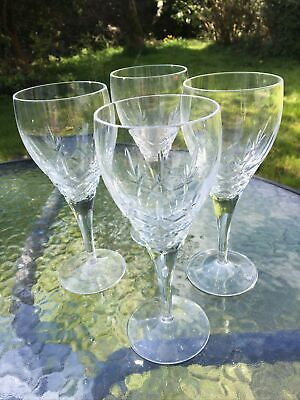 Royal Doulton Crystal  DORCHESTER  Wine Glass - 19cms (7-1/2 ) Tall X 4 Glasses • 80£