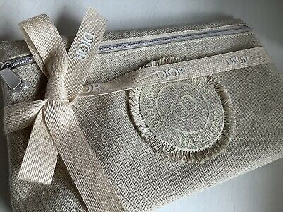 £15.99 • Buy Dior Canvas Pouch Clutch Make Up Bag Purse Accessory NEW Spring Summer 2021 VIP