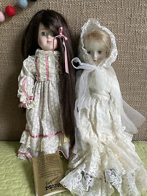 $ CDN48.40 • Buy Creepy Vtg Porcelain Doll Lot Pale Bride Ultra Long Haired Girl ALWAYS WATCHING!