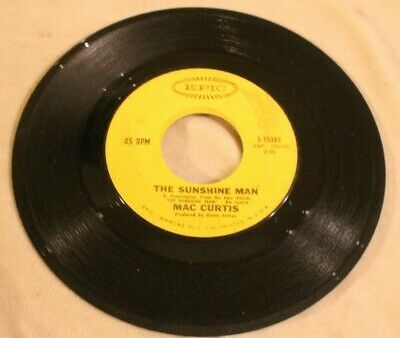 Mac Curtis 45 The Sunshine Man – It's My Way Epic Records  • 14.54£